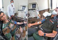 सेना के जवानों ने किया प्लाजमा दान